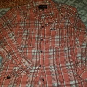 Hurley button up super cute orgish color